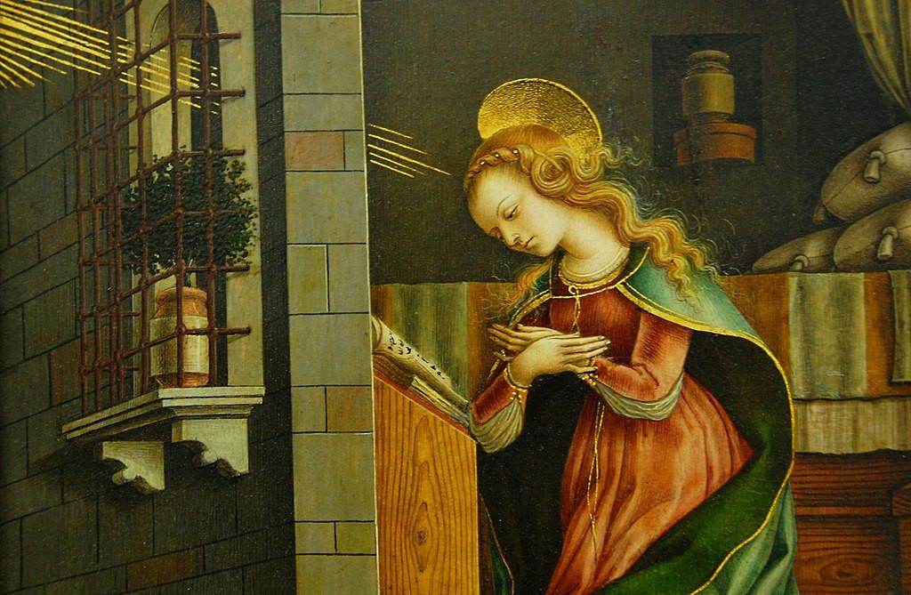 The Virgin Annunciate, 1482 (detail)